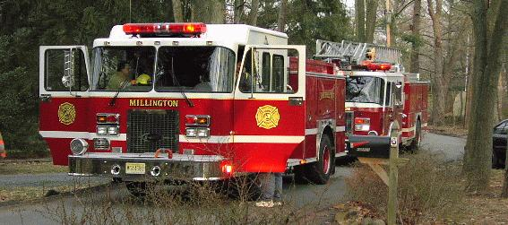Two Millington Fire Trucks